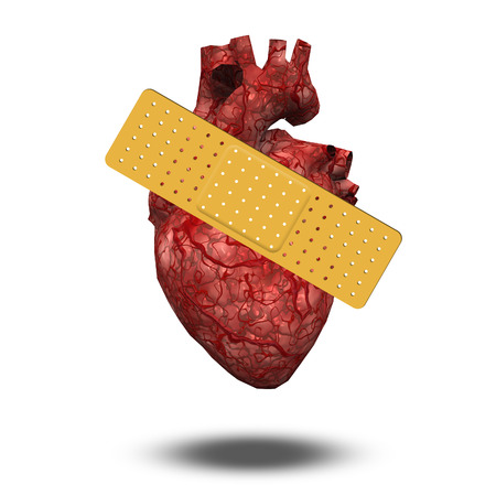 mended: Heart with bandaid