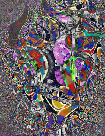 creative arts: Modern Art Money Abstract Stock Photo