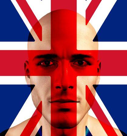 british culture: UK FLag and UK Man