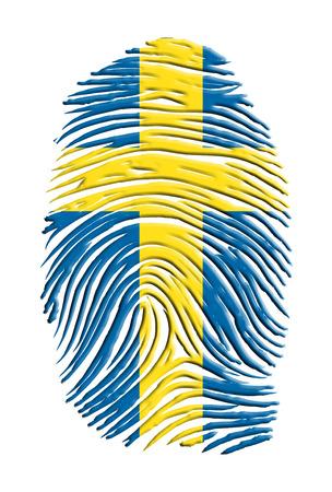 Print design: Swiss flag finger print
