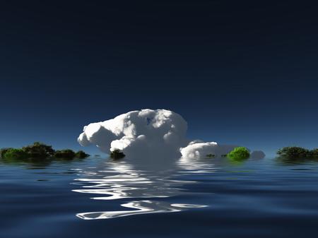 thunderhead: Cloud on water horizon