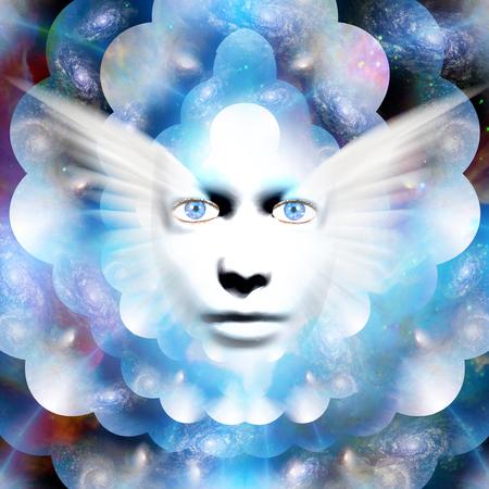 Face in the deep space Standard-Bild