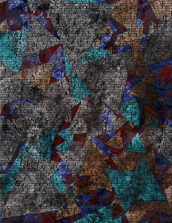 gloomy: Texture in gloomy colors with words Stock Photo