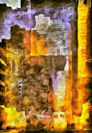 抽象的な絵画市 写真素材