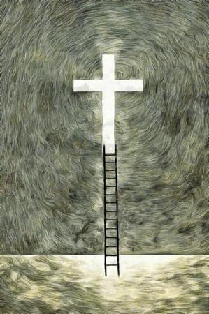 rise and shine: Hope Cross of LIght Stock Photo