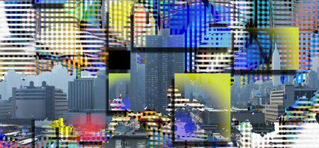 mondrian: New York City USA Abstract Landscape