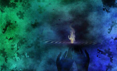 human beings: Flames