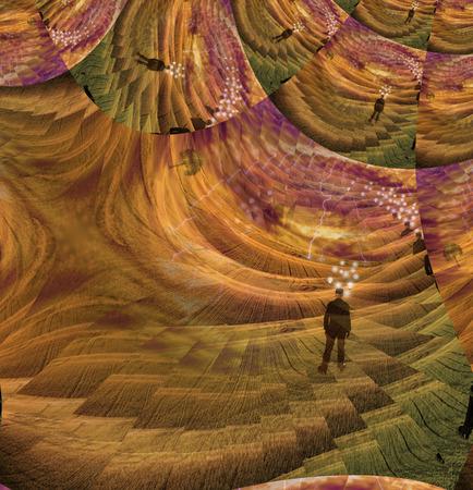 mente humana: Una composición abstracta de la mente humana Foto de archivo