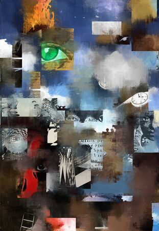 surreal: Oil painting surreal world
