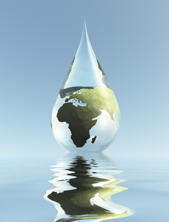 Africa Water Stock Photo
