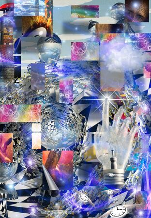 abstract art: Complex Surreal Abstract Art