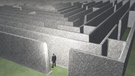 puzzling: Man and maze