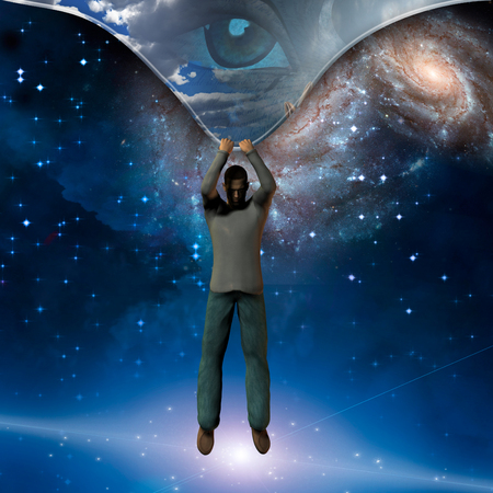 deep: Man stretches space time to show power beneath