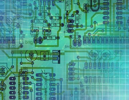 semiconductor: Circuit Technology Stock Photo