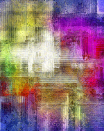 線と四角形のモダンな抽象 写真素材