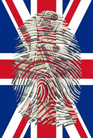 UK FLAG의 미국 달러 지문
