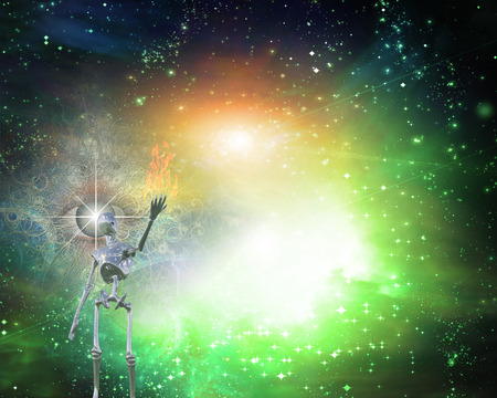 end of the world: Alien bringing light in universe