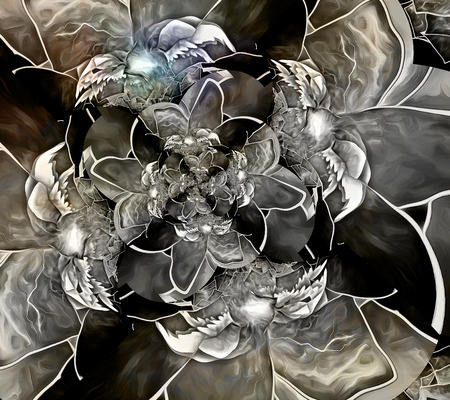 fractals: Abstract painting, fractals in muted colors