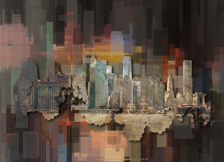 hudson river: Modern Abstract, Manhattan Stock Photo