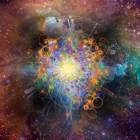 Estrella llena el espacio con las manos que gesticulan