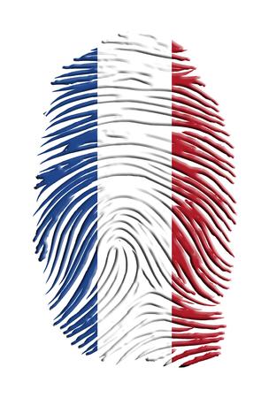 finger print: Netherlands Flag finger print