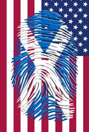british culture: USA Scotts Fingerprint Identity Stock Photo