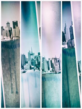 New York Skyline. Modern art Stock Photo