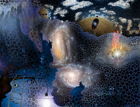 Surreal painting. Salvador Dali style. Stock Photo