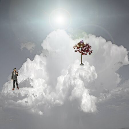 Scene on cloud Stock Photo