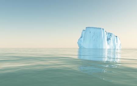 icecaps: High Resolution Iceberg in open sea Stock Photo