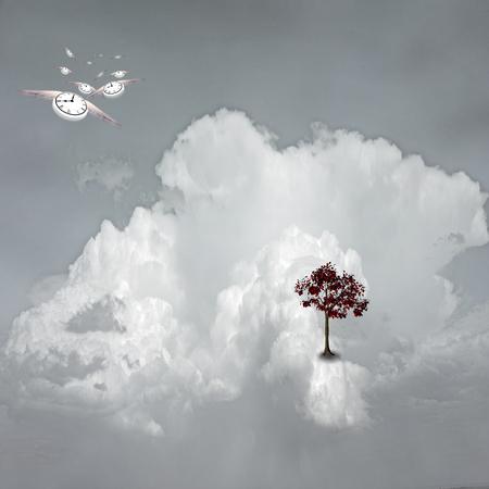 spirtual: Dream Scene on Cloud Stock Photo