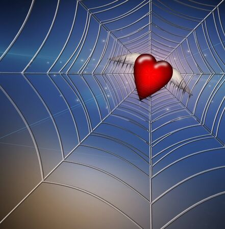 Hearts Caught in Web