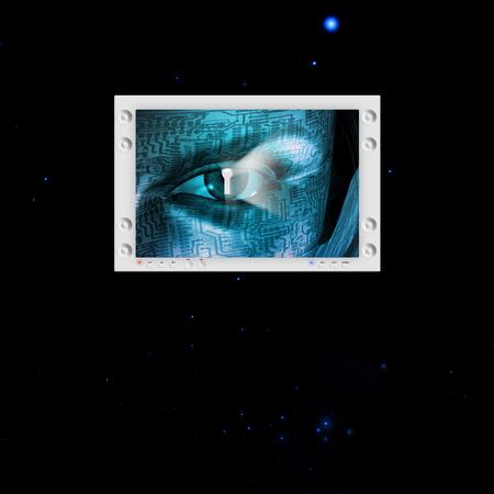 Oeil de sécurité Banque d'images - 66290581