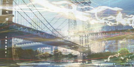 ニューヨークの組成 写真素材
