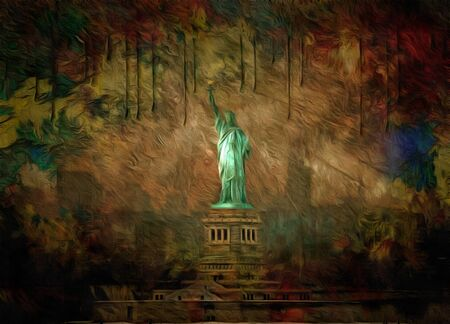 immigrate: Statue of Liberty USA
