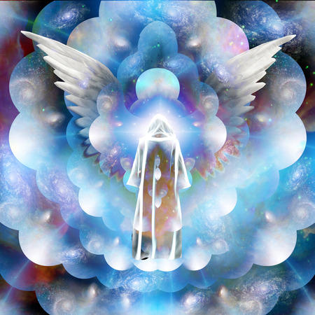 silhouette spirituelle dans l'espace