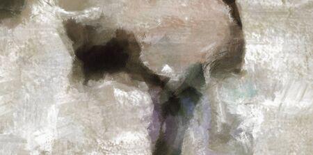 arte moderno: Silenciado pintura abstracta