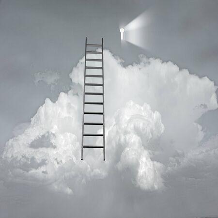 keys to heaven: Success Surreal Stock Photo