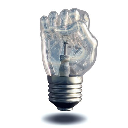 conceptual: Fist Lightbulb
