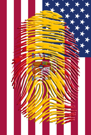 Spain USA Identity Stock Photo