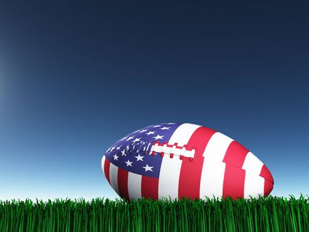 national colors: Game ball in national colors. Stock Photo