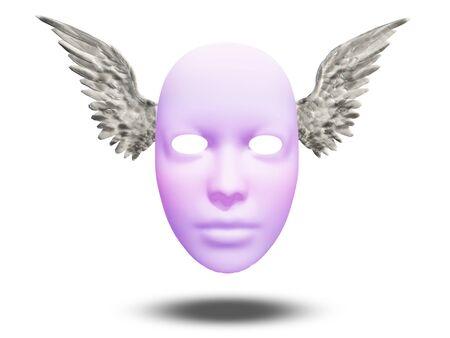 psique: Máscara con alas