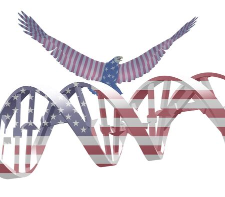 national colors: Eagle and DNA chain in national colors.