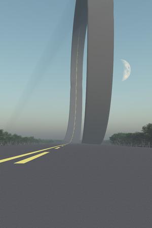 bucle: bucle de carretera.