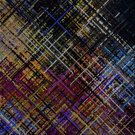 Abstract painting. Crossed lines. Composed entirely of text