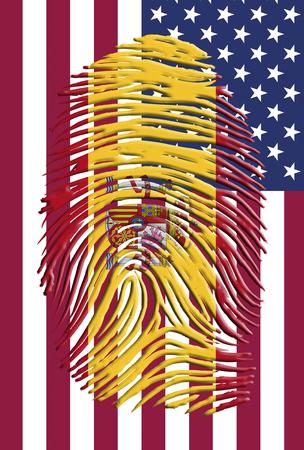 Spain USA Identity Stock Photo