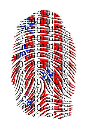 USA FINGERPRINT Stock Photo