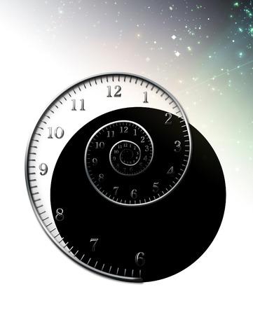 stock photo: spiral clock