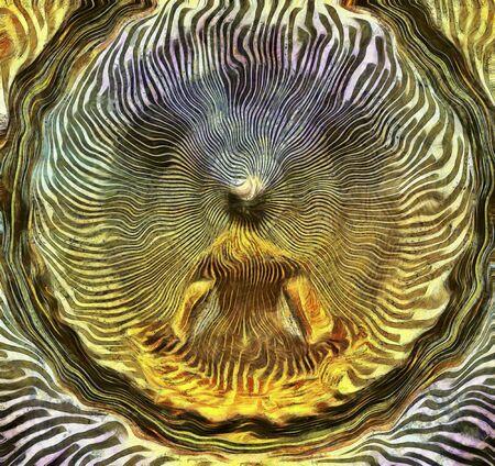 man meditating: Meditating Man and Energy