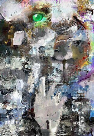 skewed: Abstract painting.